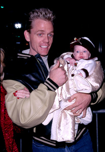 Christopher Titus attends the Hollywood ChristmasParade with his new born daughter in Hollywood Ca. 11/25/01 © 2001 Glenn Weiner - Image 19710_0102