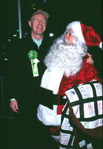 Ed Begley Jr. and Santa Claus atteded the Hollywood Christmas Parade in Hollywood California.. 11/25/01 © 2001 Glenn Weiner - Image 19710_0103