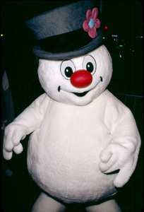 Frosty the Snowman arrives at the Hollywood Christmas parade in Hollywood California. 11/25/01 © 2001 Glenn Weiner - Image 19710_0106