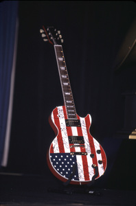 The Guitar was placed at the foot of the stage as the nominations for the 44th annual Grammy awards were read to help honor america. Beverly Hilton Hotel Beverly Hills California 1/4/02. © 2002 Glenn Weiner - Image 19782_0105