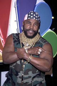 Mr. T says I pity the fool at the 75th anniversary NBC Press Tour party held in Hollywood California 1/9/02. © 2002 Scott Weiner - Image 19803_0120