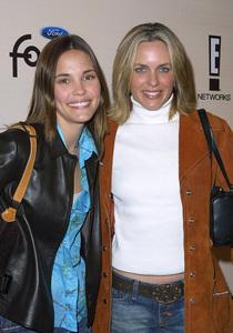 Leslie Bibb and her friend Arianne Zuckerat the Sizzlin Sixteen 2002 party in Hollywood California 1/30/02. © 2002 Glenn Weiner - Image 19855_0100