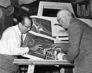 Irwin Allen and supervising animator, Willis H. O