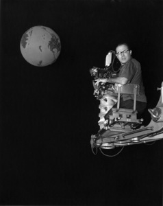 """Irwin Allen during the making of """"The Animal World""""1956Photo by Jack Albin - Image 20105_0003"""