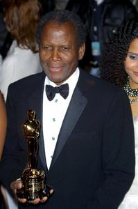 """Vanity Fair Oscar Party 2002"" 3/24/02Sidney Poitier with his Lifetime Achievement Award © 2002 Glenn Weiner - Image 20112_0150"