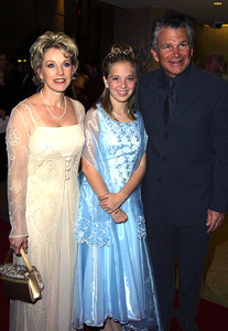 """""""St. Jude Gala: 22nd Annual"""" 3/07/02David Leisure and wife Patty Bunch with neice who is a St. Jude member © 2002 Glenn Weiner - Image 20114_0111"""
