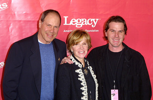 """""""Love Rocks Benefit"""" 2/14/02Michael Eisner with wife and son © 2002 Glenn Weiner - Image 20126_0124"""