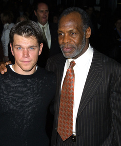 """My Khmer Heart"" Premiere 1/24/02Matt Damon and Danny Glover © 2002 Glenn Weiner - Image 20127_0101"