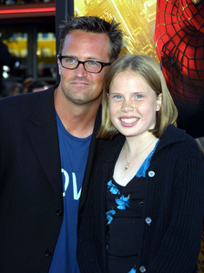 """""""Spider-man"""" Premiere 4/29/02Matthew Perry and his sister Madeline © 2002 Glenn Weiner - Image 20129_0163"""