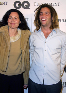 """GQ Magazine Party"" 2/20/02Minnie Driver and date Stephen © 2002 Glenn Weiner - Image 20135_0137"