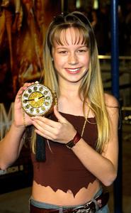 """""""The Time Machine"""" Premiere 3/04/02Brie Larson © 2002 Glenn Weiner - Image 20143_0101"""