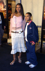 """The Time Machine"" Premiere 3/04/02Samantha Mumba and her brother © 2002 Glenn Weiner - Image 20143_0111"