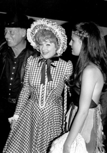 Share Party 1972 Lucille Ball with husband Gary Morton and daughter Luci Arnaz © 1978 Kim Maydole Lynch - Image 20182_0003
