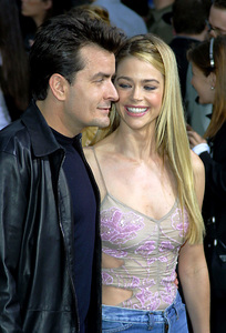 """""""Undercover Brother"""" Premiere 5/30/02Charlie Sheen and Denise Richards © 2002 Glenn Weiner - Image 20203_0105"""
