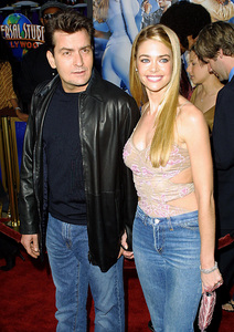 """""""Undercover Brother"""" Premiere 5/30/02Charlie Sheen and Denise Richards © 2002 Glenn Weiner - Image 20203_0158"""