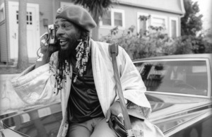 George Clinton, of Parliament-Funkadelic, sitting on a Cadillac limousine in Hollywood1977© 1978 Bobby Holland - Image 20242_0045