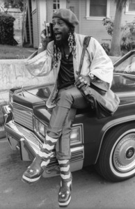 George Clinton, of Parliament-Funkadelic, sitting on a Cadillac limousine in Hollywood1977© 1978 Bobby Holland - Image 20242_0046