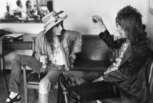 Rod Stewart being interviewed by Patti Smith in New York Citycirca 1969 © 1978 Gary Legon - Image 20251_0083