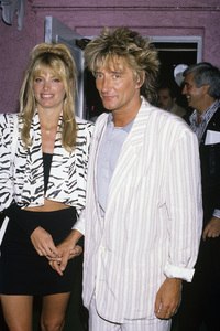 Rod Stewart and Kelly Emberg1987© 1987 Gary Lewis - Image 20251_0087
