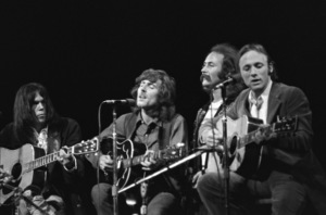Neil Young, Graham Nash, David Crosby and Stephen Stills performing at the Fillmore East in New York City1969 © 1978 Gary Legon - Image 20298_0017