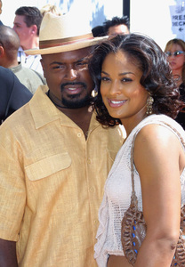 Lady of Soul Train Awards: 8th Annual, Civic Center, Pasadena, CALaila Ali and husband Ya Ya8/24/02 © 2002 Glenn Weiner - Image 20398_0135