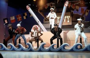 """Village People""Ray Simpson; Randy Jones; David Hodo; Felipe Rose; Glenn Hughes; Alexander BrileyC. 1979**I.V. - Image 20459_0004"