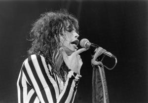 Aerosmith (Steven Tyler) performing during their Rocks Tour in Atlanta, Georgia at the Omni ColiseumMay 22, 1976© 1978 Ron Sherman - Image 20468_0055
