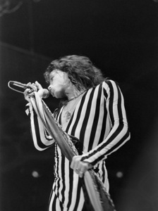 Aerosmith (Steven Tyler) performing during their Rocks Tour in Atlanta, Georgia at the Omni ColiseumMay 22, 1976© 1978 Ron Sherman - Image 20468_0056