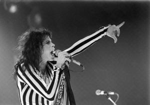 Aerosmith (Steven Tyler) performing during their Rocks Tour in Atlanta, Georgia at the Omni ColiseumMay 22, 1976© 1978 Ron Sherman - Image 20468_0058