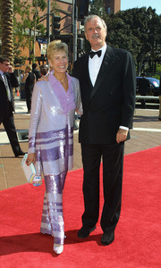 Emmy Creative Arts Awards 2002John Cleese and wifeShrine Expo Center, Los Angeles CA, 9/14/02 © 2002 Glenn Weiner - Image 20471_0120