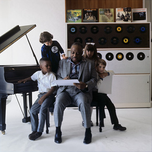 """Count Basie during a photo shoot for the album, """"Basie"""