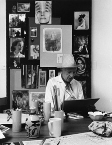 "Cecil Beaton working on designs for ""My Fair Lady""1963© 1978 Lou Jacobs Jr. - Image 2056_0001"