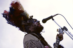 Dr. John The Nighttripper giving an outdoor concert in New York City1969 © 1978 Gary Legon - Image 20569_0008