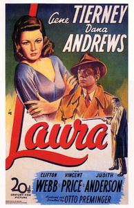 """Laura""Poster1944 20th Century Fox**I.V. - Image 20701_0002"
