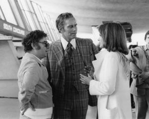 "Director Jack Smight, Charlton Heston and Karen Black in ""Airport 1975""1974 Universal** B.D.M. - Image 2085_0058"