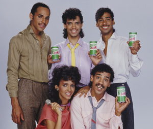 DeBarge for a Mountain Dew advertisement (James DeBarge, Bunny DeBarge, El DeBarge, Mark DeBarge, Randy DeBarge)1984 © 1984 Bobby Holland - Image 20924_0017
