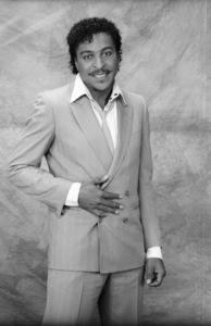 Mark Wood Jr. (lead singer for Lakeside)circa mid 1980s© 1980 Bobby Holland - Image 20928_0004