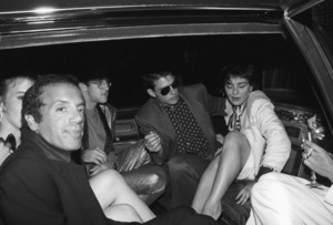 Tom Cruise, Keith Haring and Steve Rubell attending Madonna
