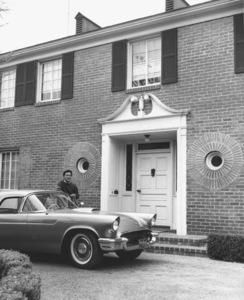 James Shigeta at home with his 1957 Ford Thunderbird circa 1957 © 1978 Joe Shere - Image 21096_0001