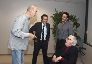 Ray Bradbury, James Cromwell, Seamus Dever and Jeff Canatta at the Writers Guild of America, West office in Los Angeles for a discussion panel event2010© 2010 Michael Jones - Image 2110_0003