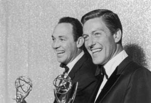 """Emmy Awards""Jerry Paris & Dick Van Dyke1964 © 1978 Kim Maydole Lynch - Image 21225_0001"