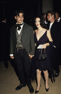 "Johnny Depp and Winona Ryder at ""The 48th Annual Golden Globe Awards""1991© 1991 Gary Lewis - Image 21268_0025"