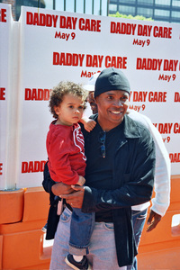 """""""Daddy Day Care"""" Premiere 5-9-03Sugar Ray Leonard and ChildPhoto By Cindy Burtin - Image 21349_0005"""