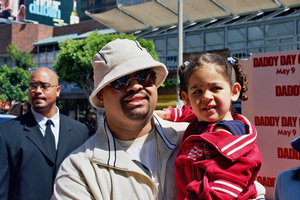"""Daddy Day Care"" Premiere 5-9-03Heavy D and daughterPhoto By Cindy Burtin - Image 21349_0006"