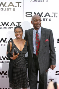 """""""S.W.A.T."""" Premiere 7-30-03Rod Perry and WifePhoto By Sam Kweskin - Image 21354_0001"""