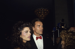 """Arnold Schwarzenegger and Maria Shriver at a """"Carousel of Hope Ball""""1990 © 1990 Gunther - Image 21403_0006"""