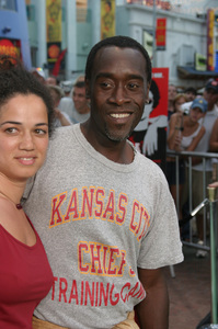 """""""Battle At Shaker Heights"""" Premiere 8-11-03Don Cheadle and Bridgid BoulterPhoto by Sam Kweskin - Image 21404_0122"""