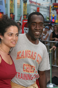 """""""Battle At Shaker Heights"""" Premiere 8-11-03Don Cheadle and Bridgid BoulterPhoto by Sam Kweskin - Image 21404_0123"""