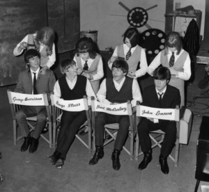 """A Hard Days Night""The Beatles - George Harrison, Ringo Starr, Paul McCartney, John Lennon1964 Proscenium Films/UA**I.V. - Image 21420_0011"