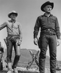 """The Magnificent Seven""Yul Brynner and Steve McQueen1960 UA**I.V. - Image 21421_0017"